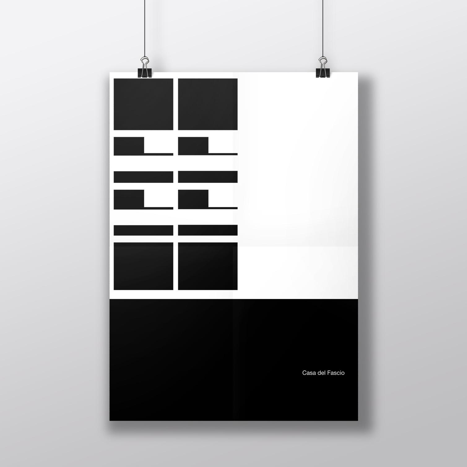arch_it piotr zybura architecture poster casa di fascio