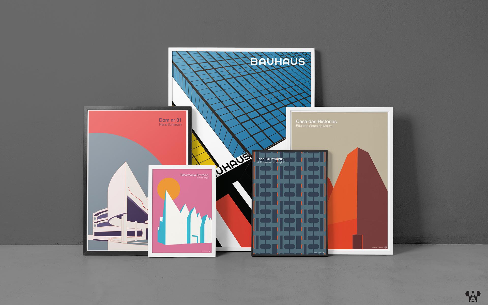 Plakaty w Muzeum Architektury